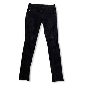 Genetic dark denim wash skinny jeans size 26